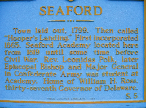This state marker is located at the interesection of US-13 and Middleford Rd. in Seaford, DE.