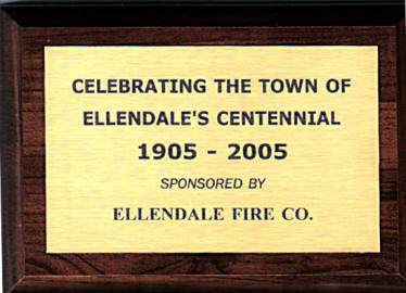 Plaque awarded to 'the Delaware Grays' Color Guard for participating in the Ellendale Parade, given by the Ellendale Fire Company